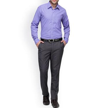 Copperline Cotton Rich Formal Shirt_CPL1149 - Purple Navy