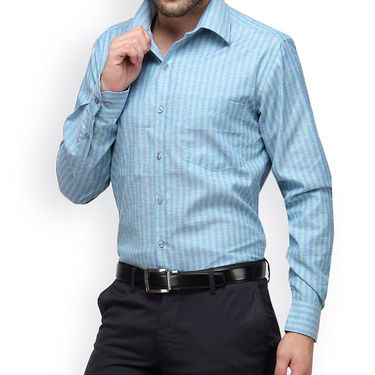 Copperline Cotton Rich Formal Shirt_CPL1157 - Green