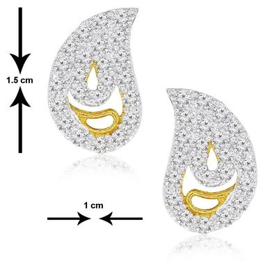 Spargz CZ Stone Gold Plated Earring_Aier053 - White