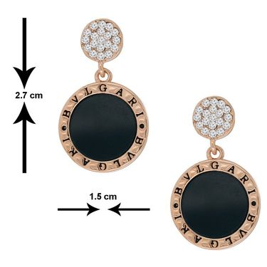 Spargz Round Earring With AD Stone_Aier240 - Multicolor