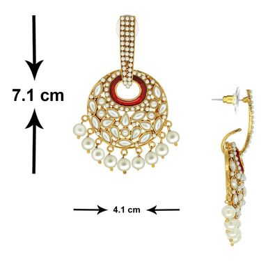 Spargz Red Antique Pearl Hangings_Aier345 - White