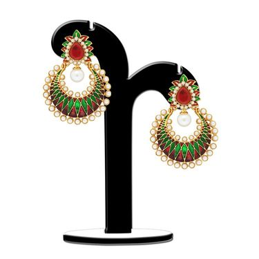Spargz Chandelier Earring Studded with Pearl_Aier423 - Multicolor