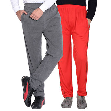 Pack of 2 Fizzaro Regular Fit Trackpants_Fl102107 - Grey & Red