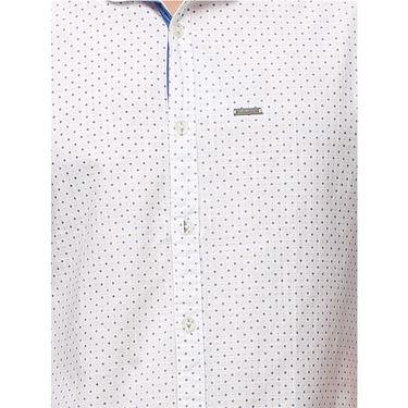 Crosscreek Printed Casual Shirt_1060303 - White