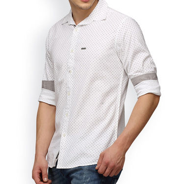 Crosscreek Printed Casual Shirt_1060304 - White
