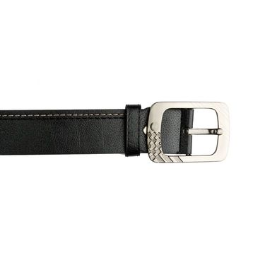 Mango People Leatherite Casual Belt For Men_Mp102bk - Black