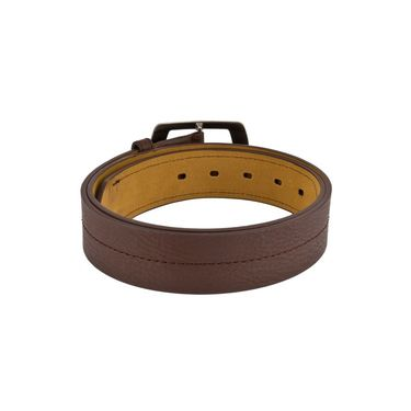 Mango People Leatherite Casual Belt For Men_Mp103br - Brown