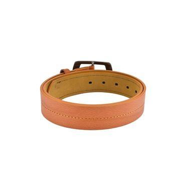 Mango People Leatherite Casual Belt For Men_Mp103tn - Tan