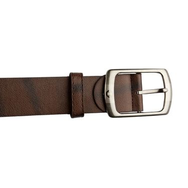 Mango People Leatherite Casual Belt For Men_Mp105br - Brown