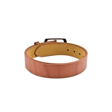 Mango People Leatherite Casual Belt For Men_Mp105tn - Tan