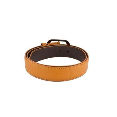 Mango People Leatherite Casual Belt For Men_Mp109tn - Tan