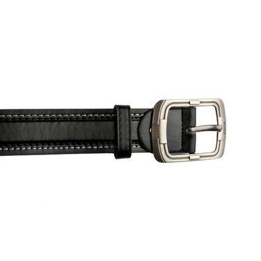 Mango People Leatherite Casual Belt For Men_Mp113bk - Black