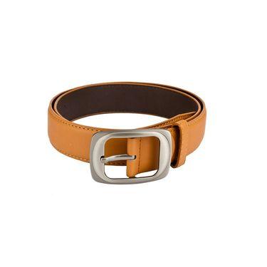Mango People Leatherite Casual Belt For Men_Mp114tn - Tan