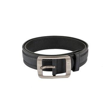 Mango People Leatherite Casual Belt For Men_Mp115bk - Black