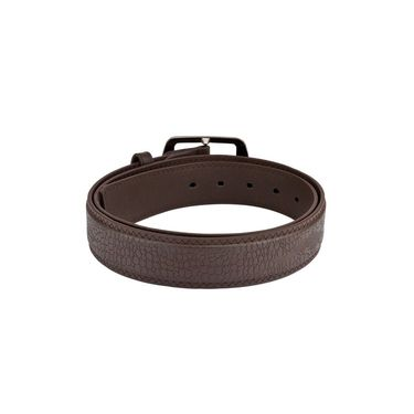 Mango People Leatherite Casual Belt For Men_Mp118br - Brown