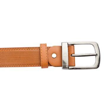 Mango People Leatherite Casual Belt For Men_Mp119tn - Tan
