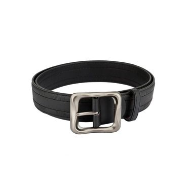 Mango People Leatherite Casual Belt For Men_Mp120br - Black