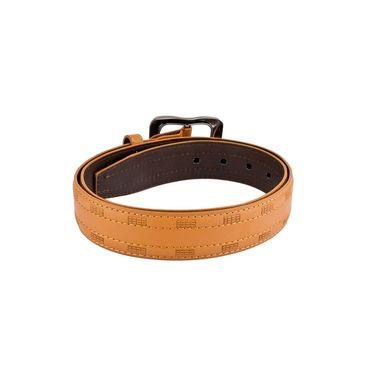 Mango People Leatherite Casual Belt For Men_Mp120tn - Tan