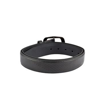 Mango People Leatherite Casual Belt For Men_Mp121bk - Black