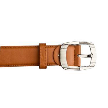 Mango People Leatherite Casual Belt For Men_Mp121tn - Tan