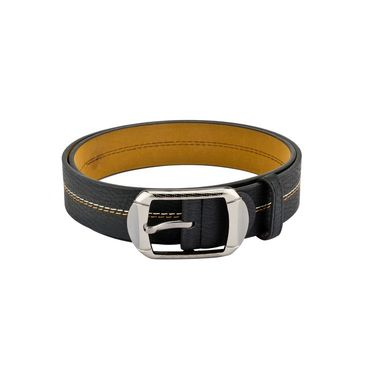 Mango People Leatherite Casual Belt For Men_Mp124bk - Black