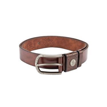 Swiss Design Leatherite Casual Belt For Men_Sd01br - Brown
