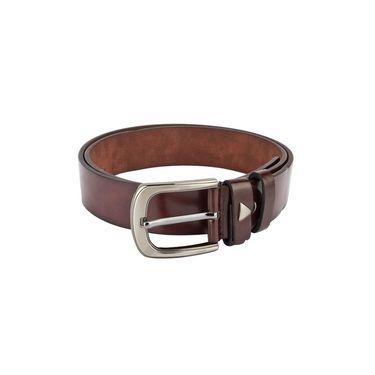 Swiss Design Leatherite Casual Belt For Men_Sd02br - Brown