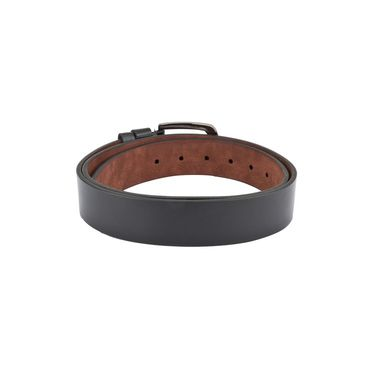 Swiss Design Leatherite Casual Belt For Men_Sd02blk - Black