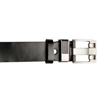Swiss Design Leatherite Casual Belt For Men_Sd04blk - Black
