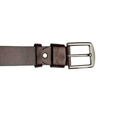 Swiss Design Leatherite Casual Belt For Men_Sd05br - Brown