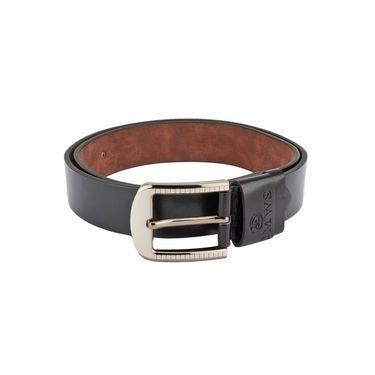 Swiss Design Leatherite Casual Belt For Men_Sd05blk - Black