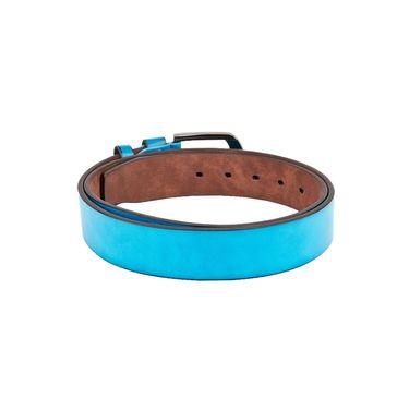 Swiss Design Leatherite Casual Belt For Men_Sd06bl - Blue