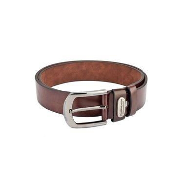 Swiss Design Leatherite Casual Belt For Men_Sd06br - Brown
