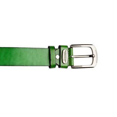 Swiss Design Leatherite Casual Belt For Men_Sd06gr - Green