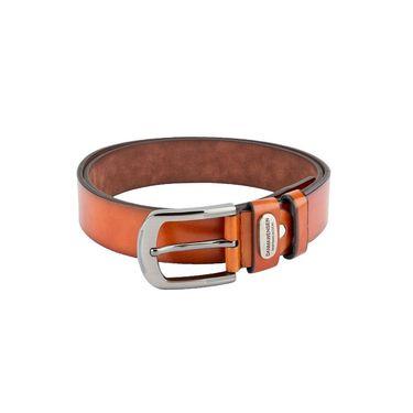 Swiss Design Leatherite Casual Belt For Men_Sd06tn - Tan