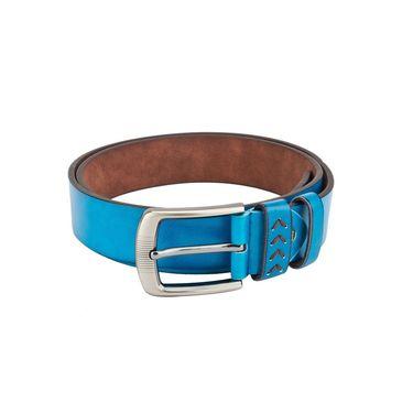 Swiss Design Leatherite Casual Belt For Men_Sd07bl - Blue