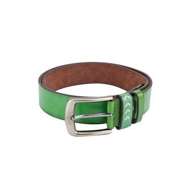 Swiss Design Leatherite Casual Belt For Men_Sd07gr - Green