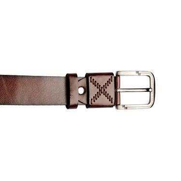 Swiss Design Leatherite Casual Belt For Men_Sd08br - Brown