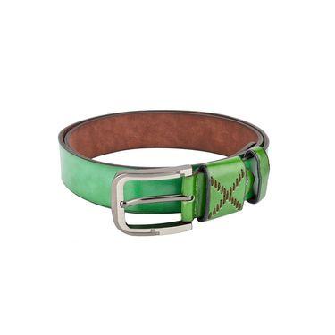 Swiss Design Leatherite Casual Belt For Men_Sd08gr - Green