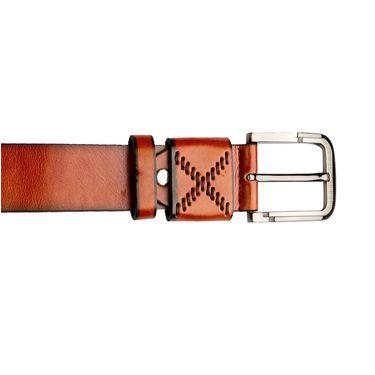 Swiss Design Leatherite Casual Belt For Men_Sd08tn - Tan