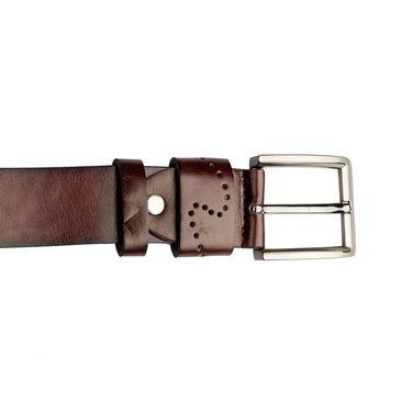 Swiss Design Leatherite Casual Belt For Men_Sd10br - Brown