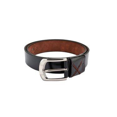 Swiss Design Leatherite Casual Belt For Men_Sd102blk - Black