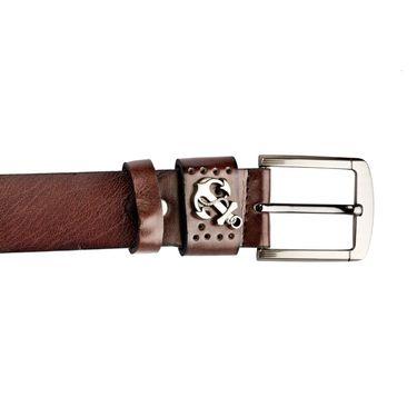 Swiss Design Leatherite Casual Belt For Men_Sd103br - Brown