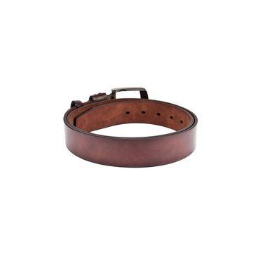 Swiss Design Leatherite Casual Belt For Men_Sd104br - Brown