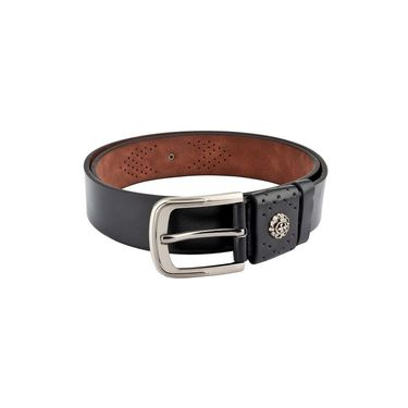 Swiss Design Leatherite Casual Belt For Men_Sd106blk - Black