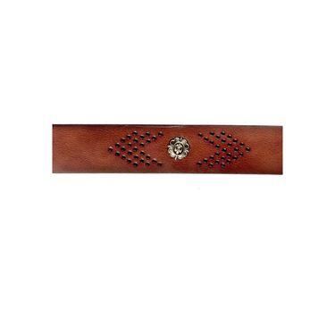 Swiss Design Leatherite Casual Belt For Men_Sd106br - Brown