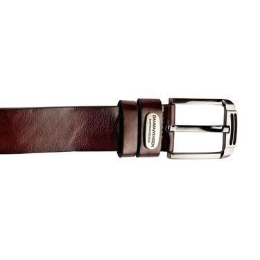 Swiss Design Leatherite Casual Belt For Men_Sd108br - Brown
