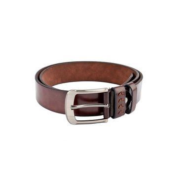 Swiss Design Leatherite Casual Belt For Men_Sd111br - Brown