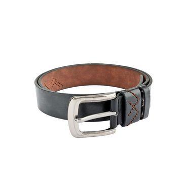 Swiss Design Leatherite Casual Belt For Men_Sd112blk - Black