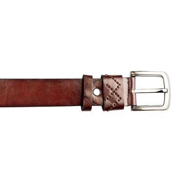 Swiss Design Leatherite Casual Belt For Men_Sd112br - Brown